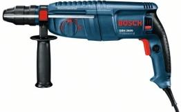 Bosch Bohrhammer GBH 2600 Professional blau Koffer, 3-teiliges Meisel- und Bohrer-Set - 1