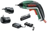 Bosch Home and Garden Akku-Schrauber IXO Set 5. Generation, Winkelaufsatz, Exzenteraufsatz, 10 Schrauberbits, USB-Ladegerät, Metalldose (3,6 V, 1,5 Ah) - 1